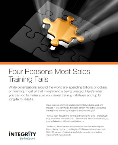Four Why Most Sales Training Fails